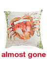 Made In India 20x20 Indoor Outdoor Crab Pillow
