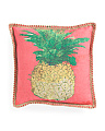 20x20 Jute Trim Pineapple Pillow