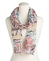 Made In Italy Jungle Flower Scarf
