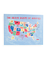 Kids 30x23 Us Map Canvas Wall Art