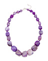Sterling Silver Purple Agate Nugget Necklace