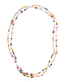 White And Multi Color Pearl Endless Necklace
