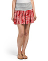 Juniors Printed Smock Mini Skirt