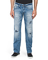 Slim Straight Destructed Jeans