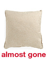 22x22 Faux Linen To Velvet Pillow