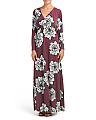Made In USA Wrap Maxi Dress