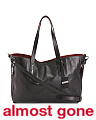 Made In Italy Contrast Leather Tote