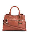 Made In Italy Calf Leather Satchel