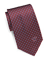 Made In Italy Geo Floral Silk Tie