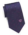 Made In Italy Small Squares Silk Tie