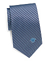 Made In Italy Geo Squiggle Silk Tie