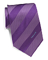 Made In Italy Uniform Stripe Silk Tie