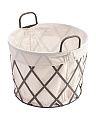 Small Round Industrial Metal Basket