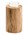 7in Round Wood Candle