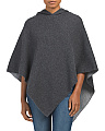 Made In Italy Metallic Interior Wool Poncho