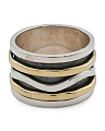 Made In India Sterling Silver And Brass Spinner Ring