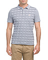 Two-tone Pique Checkerboard Polo