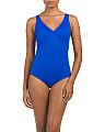 Diamond Surplice One-piece Swimsuit