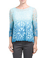 Long Sleeve Ombre Lace Top