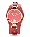 Women's Roslyn Leather Cuff Strap Watch