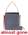 Made In Italy Twisted Cabas Leather Shoulder Bag