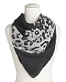 Made In Italy Leopard Print Wool Scarf