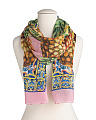 Made In Italy Foulard Flowers Silk Scarf