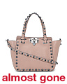 Made In Italy Leather Rockstud Mini Handbag