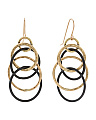 Made In USA Two Tone Organic Circles Earrings