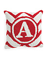 14x14 Hand Hooked Monogram Pillow