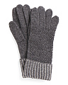 Moss Stitch Cashmere Gloves