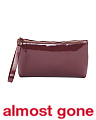 Made In Italy Patent Leather Zip Pouch
