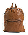 Made In Italy Crinkled Leather Backpack