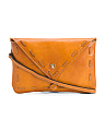 Made In Italy Leather Crossbody Envelope
