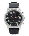 Men's Swiss Made Chronograph Field Leather Strap Watch