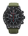 Men's Swiss Made Chronograph Roadster Nylon Strap Watch
