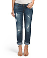 Juniors Destructed Boyfriend Jeans