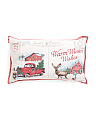 14x24 Christmas Farm Postcard Pillow