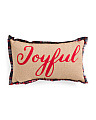 14x24 Chainstitch Joyful Pillow
