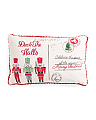 14x22 Faux Linen Nutcracker Pillow