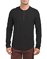 Slub Knit Long Sleeve Henley