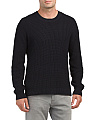 Textured Long Sleeve Crew Sweater