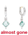Made In Thailand Sterling Silver Cushion Paraiba Spinel Earrings