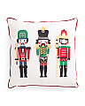 20x20 Velvet Nutcracker Pillow