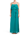 Long Ruffled Popover Top Gown