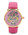Women's Betsey Emoji Dial Leather Strap Watch