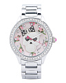 Women's Crystal Bezel Floral Skull Dial Watch