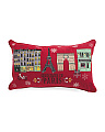 14x24 Christmas In Paris Pillow