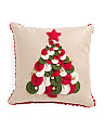 Made In India 16x16 Felt Circle Tree Pillow