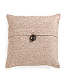 20x20 Chenille Button Pillow